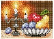 Рисунок на ткани для вышивки бисером Ужин при свечах