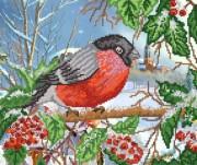 Рисунок на ткани для вышивки бисером Зимняя птица