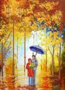 Рисунок на ткани для вышивки бисером Мелодия дождя