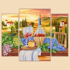 Рисунок на ткани для Полиптих из трёх частей Тоскана, , 380.00грн., РКП-1010, Марiчка (Маричка), Картины из нескольких частей