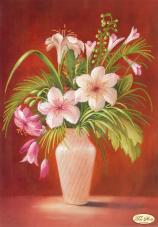 Рисунок на ткани для вышивки бисером Букет лилий
