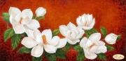 Рисунок на ткани для вышивки бисером Магнолия в цвету