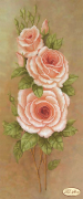 Рисунок на ткани для вышивки Персиковые лепестки