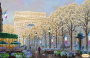Схема вышвики бисером на атласе  Осенний Париж