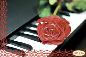 Рисунок на ткани для вышивки бисером Пианино и роза Tela Artis (Тэла Артис) ТА-005 - 95.00грн.