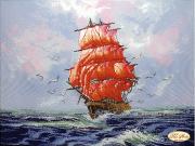 Рисунок на ткани для вышивки бисером Алые паруса