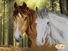 Рисунок на ткани для вышивки бисером В лесу