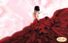 Рисунок на ткани для вышивки бисером В вихре танца