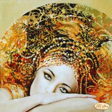 Рисунок на ткани для вышивки бисером Загадочная нимфа Tela Artis (Тэла Артис) ТА-049