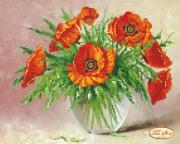 Рисунок на ткани для вышивки бисером Летний букет