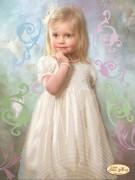 Рисунок на ткани для вышивки бисером Малышка