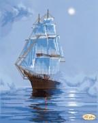 Рисунок на ткани для вышивки бисером Морскими просторами