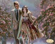 Рисунок на ткани для вышивки бисером Первое свидание