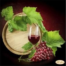 Рисунок на ткани для вышивки бисером Бокал с вином Tela Artis (Тэла Артис) ТА-120