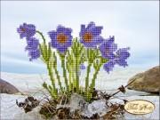 Рисунок на ткани для вышивки бисером Первые цветы