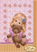 Рисунок на ткани для вышивки бисером Любимая игрушка