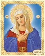 Рисунок на ткани для вышивки бисером Иконы Божьей Матери Умиление