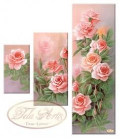 Рисунок на ткани для вышивки бисером Розовый сад, , 355.00грн., СК-005, Tela Artis (Тэла Артис), Картины из нескольких частей