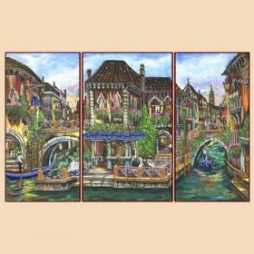 Рисунок на ткани для вышивки бисером Венецианские мотивы (полиптих), , 380.00грн., РКП-1009, Марiчка (Маричка), Картины из нескольких частей