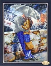 Набор для вышивки бисером Влюблённые под дождём