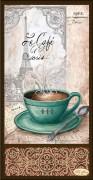 Рисунок на ткани для вышивки бисером Кофе в Париже - 2