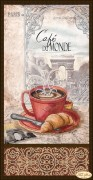Рисунок на ткани для вышивки бисером Кофе в Париже - 1