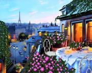 Рисунок на ткани для вышивки бисером Парижский балкон