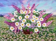 Набор для вышивки лентами Красота ромашек Марiчка (Маричка) НЛ-2002