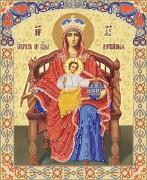 Рисунок на ткани для вышивки бисером Пресвятая Богородица Державная