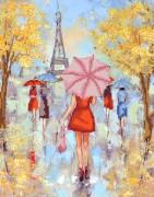 Рисунок на ткани для вышивки бисером Парижские модницы