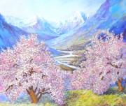Рисунок на ткани для вышивки бисером Весна в горах