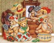Рисунок на ткани для вышивки бисером Любимые игрушки