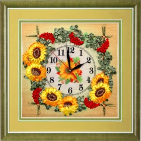 Набор для вышивки лентами Часы. Гроздья калины Марiчка (Маричка) ЧНЛ-2002 - 342.00грн.