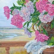 Рисунок на ткани для вышивки бисером Любимые цветы