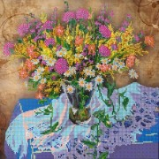 Рисунок на ткани для вышивки бисером Луговые цветы 1