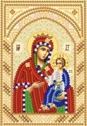Рисунок на ткани для вышивки бисером Иверская Божья Матерь
