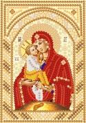Рисунок на ткани для вышивки бисером Пресвятая Богородица Почаевская