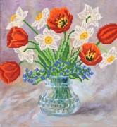 Рисунок на ткани для вышивки бисером Нежные цветы
