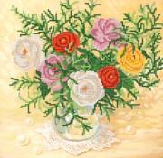 Рисунок на ткани для вышивки бисером Розы