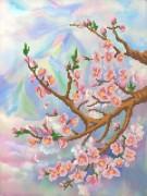 Рисунок на ткани для вышивки бисером Розовые лепестки
