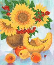 Рисунок на ткани для вышивки бисером Яркий натюрморт Марiчка (Маричка) РКП-315