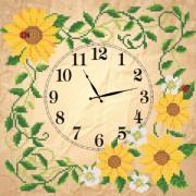Рисунок на ткани для вышивки бисером Часов Солнечные цветы