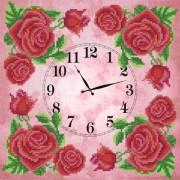 Рисунок на ткани для вышивки бисером Часов Королевская роза