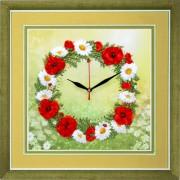 Набор для вышивки атласными лентами Часы. Время цветов
