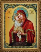 Набор для вышивки бисером Икона Божьей Матери Почаевская