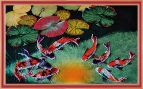 Набор для вышивки бисером Кои на счастье Картины бисером Р-186 - 561.00грн.