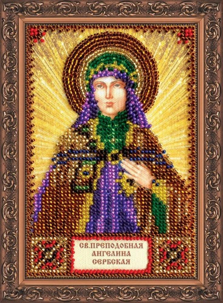 Икона ангелины вышивка бисером
