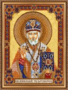 Набор для вышивки бисером Домашний иконостас. Николай Чудотворец