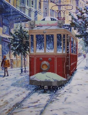 Вышивка трамвайчик схема