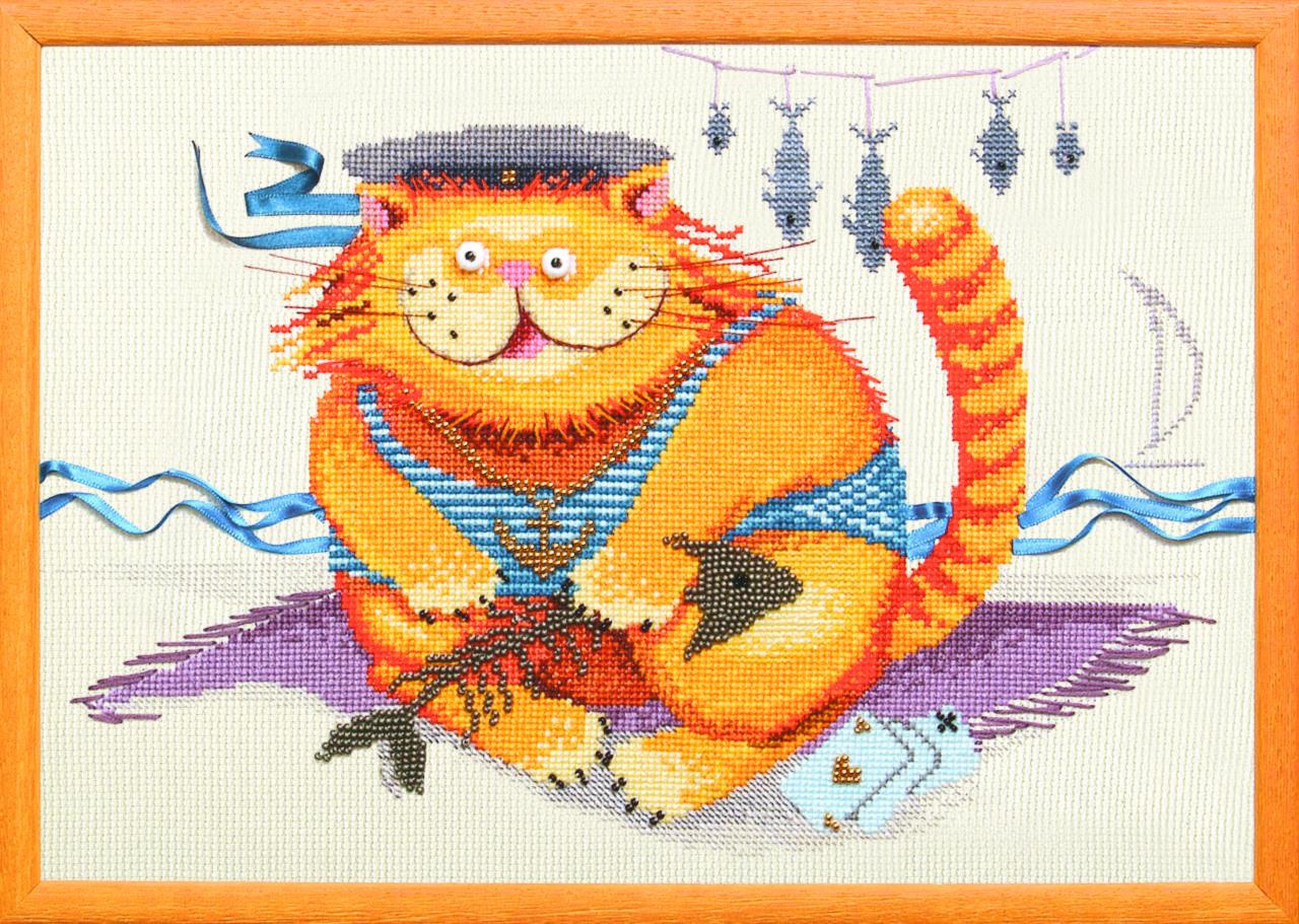 Набор вышивка бисером кот